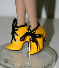 50mm/15mm Yellow Patent Boots for Ellowyne, Cami, Antoinette and Deja Vu Tonner