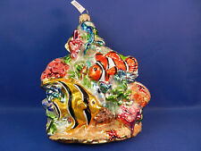 Coral Reef Sealife Angel Fish Nimo Glass Christmas Tree Ornament Animal 020054