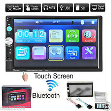 "7"" Touch Bluetooth 2 DIN In Dash Car Stereo MP5 Player Radio FM Video Camera USB"