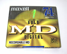 "One (1) Minidisc MAXELL ""Gold"" MD-74 '1998 (new and sealed)"