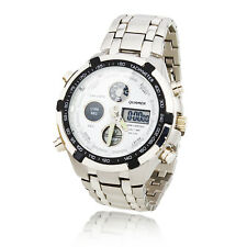 New Men's Fashion Quartz Business Waterproof Analog Stainless Steel Wrist Watch