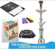 Ultimate Hookah Khalil Mamoon Tips Burner Coco Coals 50 Black Diamond Foil KM