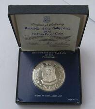 PHILIPPINEN 1975 50 Piso  ANG BAGONG LIPUNAN Silver Proof BOX + COA !!!