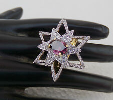 Party Wear 2 Tone Diamante Indian American Fashion Jewelry Adjustable Style Ring