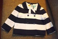 girls gymboree cape cod cutie pea coat jacket nautical size 2t-3t nwt