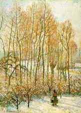 Pissarro matin soleil sur la neige Eragny sur Epte 1895 A4