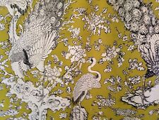 5 m  Designer Exotic Bird Of paradise Cotton Linen Curtain  Upholstery Fabric