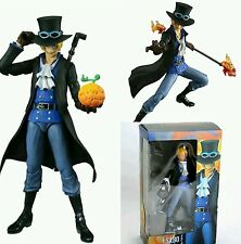 "ONE PIECE/ FIGURA SABO 18 CM- VARIABLE ACTION HEROES  7"" IN  BOX"