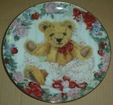 Franklin Mint Collectors Plate Teddy Bear A VALENTINE FOR TEDDY