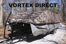 NEW VORTEX COMBO PACK CAMO 26 FT ULTRA PONTOON/DECK BOAT COVER+SUPPORT SYSTEM