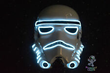Star Wars Stormtrooper Force Awakens RaveParty Halloween Costume Neon WHITE Mask