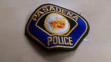 pasadena police patches
