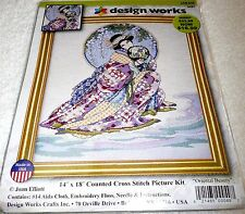 "Design Works Counted Cross Stitch Kit ORIENTAL BEAUTY 14"" x 18"""