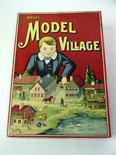 Early 1900`s Spears Works Bavaria THE MODEL VILLAGE BOARD GAME Antique Play Set