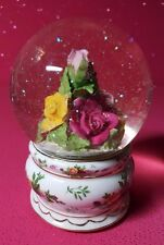 "ROYAL ALBERT OLD COUNTRY ROSES MUSICAL SNOWGLOBE ""MOONLIGHT SONATA"" EXCELLENT!"