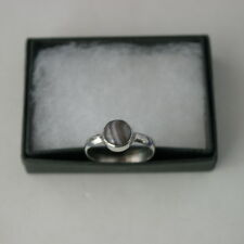 925 Silver Ring With Boswana Gem 1.5 Gr 0.9 Cm Wide Size L- M- P- P12- R12 -S