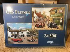 """2 x 500 Piece puzzles by Gibsons """"Old Friends"""" Kevin Walsh"""