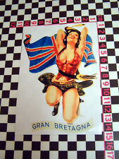 Sexy Vintage Italian Scooter Girl Sticker - Gran Bretagna for Lambretta or Iso