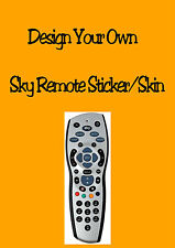 Design Your Own Sky Plus HD Remote Sticker Skin