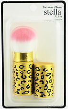 THE CREME SHOP/ STELLA GOLD CHEETAH RETRACTABLE FACE BRUSH~PROFESSIONAL QUALITY