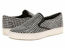 Belle by Sigerson Morrison Saras 3 Flat Sneakers, White/Black Tweed SIZE 6.5 (sh