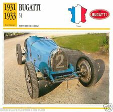 BUGATTI  51 1931 1933 CAR VOITURE FRANCE CARTE CARD FICHE