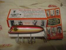 Rare Color Heddon Basser W/ Marked Box & Catalog.. Looks Unfished - 8501 Basser