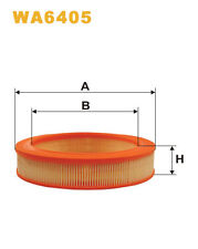WIX WA6405 Car Air Filter Round Replaces C25521 CA643PL AG193