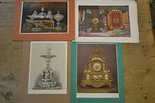 4 original chromolithographs of silver etc. Marriage of Prince of Wales 1863