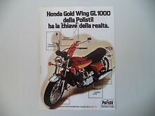 advertising Pubblicità 1980 HONDA GOLD WING GL 1000 POLISTIL