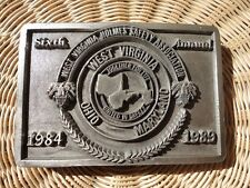 BELT BUCKLE WV HOLMES SAFETY ASSOCIATION 6th Annual Mining Pewter West Virginia