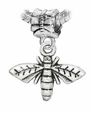 Moth Butterfly Insect Flying Bug Dangle Bead for Silver European Charm Bracelets
