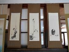 japanese hanging scroll  Title :a set of 3 musashi miyamoto
