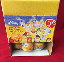 BOX OF 12 DISNEY WINNIE THE POOH CAPSULES - ANIMAL WEAR - CAPSULE CONTAINS 2 FIG