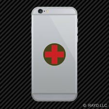 Round Combat Medic Cross Cell Phone Sticker Mobile Die Cut