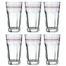 6 Latte Macchiato Gläser Rastal 340 ml Macchiato Glas Kaffeegläser Motiv Glas