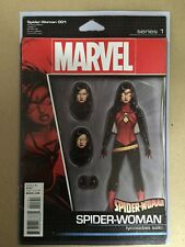 SPIDER-WOMAN #1 ACTION FIGURE VARIANT FIRST PRINTING MARVEL (2015) SPIDERMAN