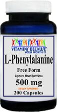 L-Phenylalanine 500mg 200 capsules-Supports Positive Mood