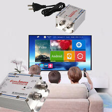 2W 20DB Cable TV ANTENNA Booster Signal Amplifier Splitter HDTV AMP Household
