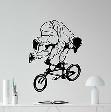 Bicycle Wall Decal Bike BMX Trick Extreme Sport Vinyl Sticker Decor Mural 16thn