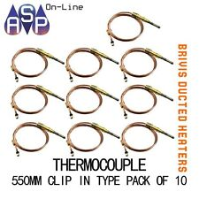 "BRIVIS THERMOCOUPLE 21"" 550mm CLIP-IN TYPE - B009065 - PACK OF 10"