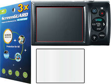 3x Clear LCD Screen Protector Canon PowerShot ELPH 160 135 / Canon IXUS 145