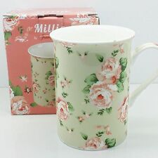 VINTAGE DESIGN FLORAL DITSY ROSE SHABBY CHIC TEA COFFEE MUG CUP GIFT BOXED