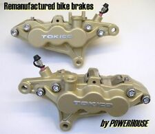Kawasaki ZX-6R ZX6 J1 J2 front brake calipers refurbished exchange 2000 2001