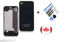 Black New Back Battery Housing Cover Glass Replacement for iPhone 4GS 4S + Tools