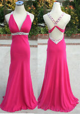 NWT FAVIANA $318 Cranberry Pageant Evening Prom Gown 12
