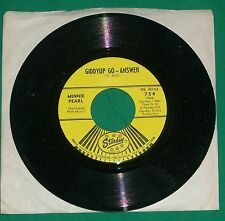 1966 MINNIE PEARL 45 RPM SINGLE RECORD GIDDYUP GO ANSWER ROAD RUNNER STARDAY VTG