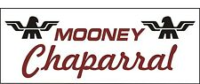 A087 Mooney Chaparral Airplane banner hangar garage decor Aircraft signs