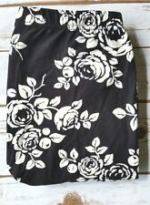 PLUS Size Black White Floral Leggings Flowers Rose Printed Buttery Soft