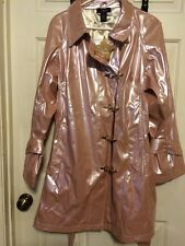 New Hot in Hollywood Vinyl Rain Coat Size Women's size M with slicker clips